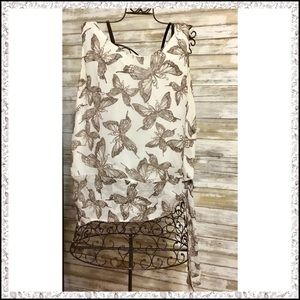 Sleeveless Butterfly Blouse